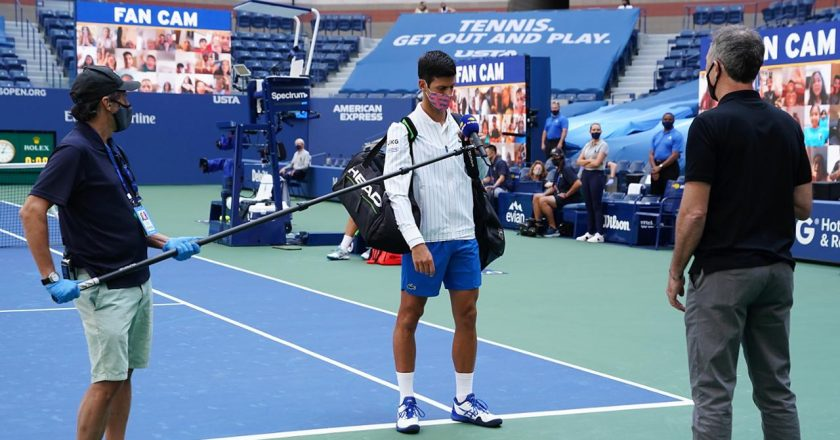 Novak Djokovic en US Open