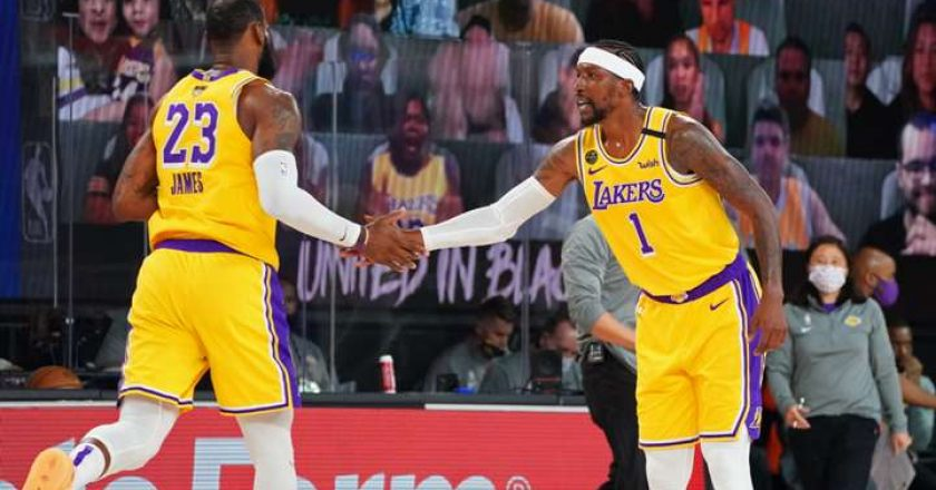 LeBron James y LeBron James con LA Lakers